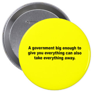A government big enough to give you everything pinback button