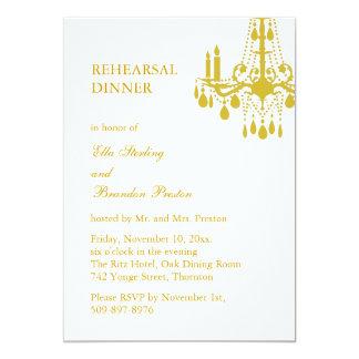 A Grand Ballroom Rehearsal Dinner Invitation