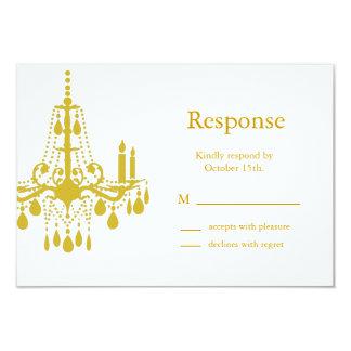 A Grand Ballroom RSVP (yellow) 9 Cm X 13 Cm Invitation Card