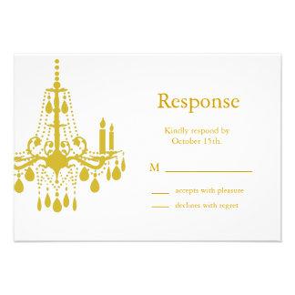 A Grand Ballroom RSVP yellow Personalized Invitations