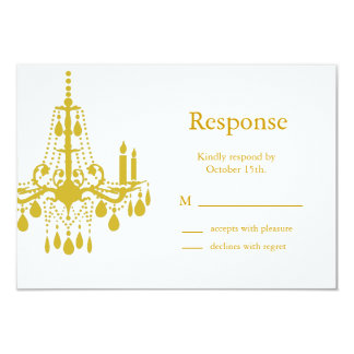 A Grand Ballroom RSVP (yellow) 3.5x5 Paper Invitation Card