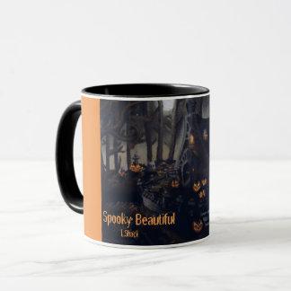 A Gray Halloween Night Cup: Spooky Beautiful Mug