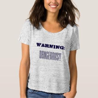 A gray womens dangerous T-shirt