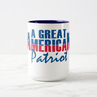 a great american patriot Two-Tone coffee mug