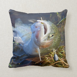A Great Day Trout Fishing Cushion