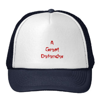 A      Great   Defender Mesh Hats