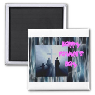 A great Fathers day wish Square Magnet