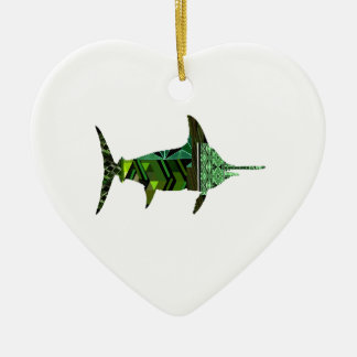 A GREAT MARINER CERAMIC HEART DECORATION