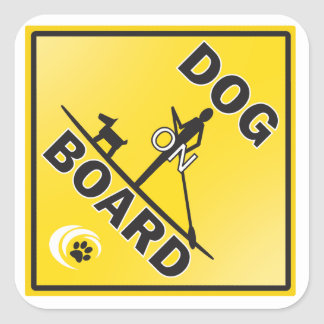 A great sticker for a dog loving paddleboarder