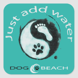 A great stiker for dog and beach lovers! square sticker