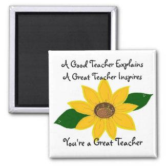 A Great Teacher Sunflower Design Magnets