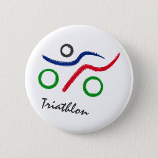 A great Triathlon gift for your friend or family 6 Cm Round Badge