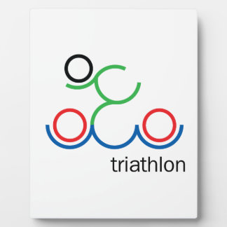 A great Triathlon gift for your friend or family Plaque