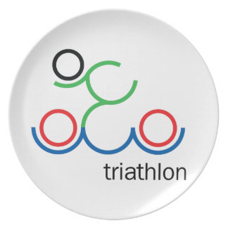 A great Triathlon gift for your friend or family Plate