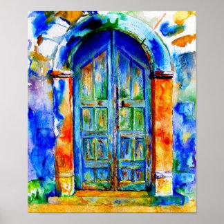A Grecian Door. Poster