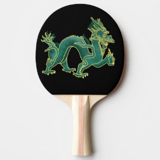 A Green Dragon with Gold Trim
