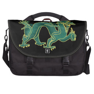 A green Dragon with Gold Trim Computer Bag