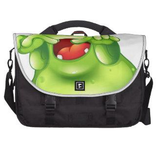 A green monster in horror laptop computer bag