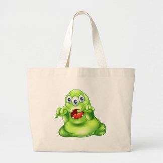 A green monster in horror jumbo tote bag