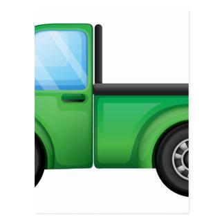 A green truck postcard