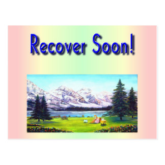 A greeting card for wish people recover soon