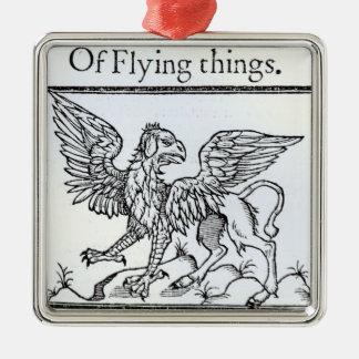 A Griffin Silver-Colored Square Decoration