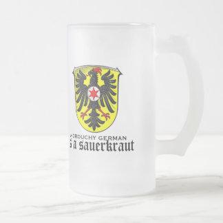 A grouchy German is a sauerkraut funny glass mug
