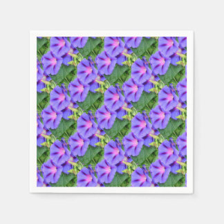 A Group of Beautiful Morning Glories Disposable Napkins