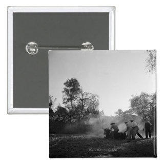 A group of Mexican charros bullfighters twist 15 Cm Square Badge
