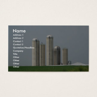 A Group Of Silos On A Farm In Lancaster, Pa Business Card