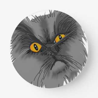 A Grumpy Cat vector Round Clock