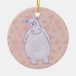 A Guilty Little Hippo Ornament
