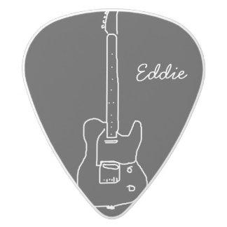 a guitar white delrin guitar pick