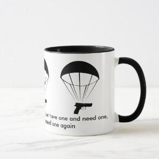 A gun is like a parachute! Great Mug! Mug