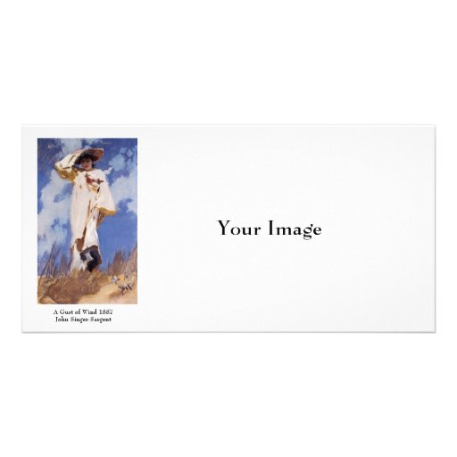 A Gust of Wind by John Singer Sargent Picture Card