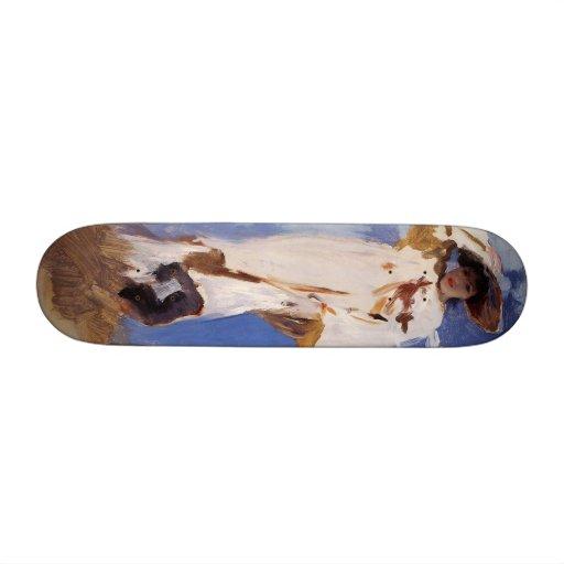 A Gust of Wind by John Singer Sargent Custom Skate Board