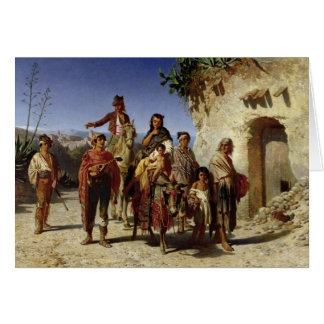 A Gypsy Family on the Road, c.1861 Card