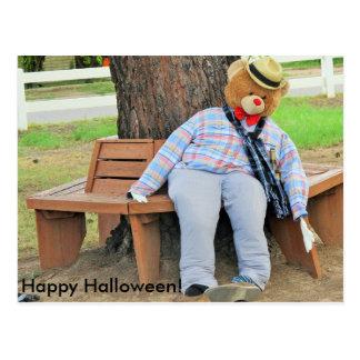 A Halloween Bear Postcard