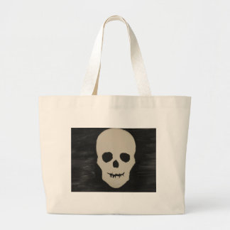A Halloween Skull Large Tote Bag