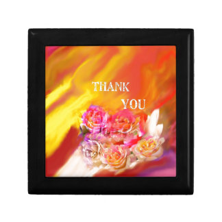 A hand full of thanks tends toward you. gift box