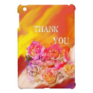 A hand full of thanks tends toward you. iPad mini case