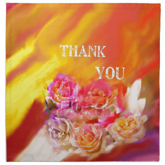 A hand full of thanks tends toward you. napkin