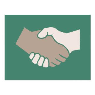 A Handshake Is Good Postcard