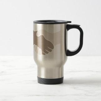 A Handshake Is Good Stainless Steel Travel Mug