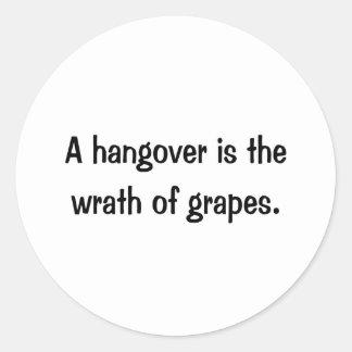 A Hangover Classic Round Sticker