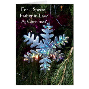 a happy christmas father in law card snowflake - What To Get Father In Law For Christmas