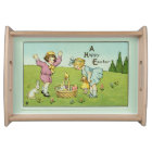 A Happy Easter Light Green Serving Tray