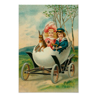 A Happy Easter To You Eggshell Car Posters