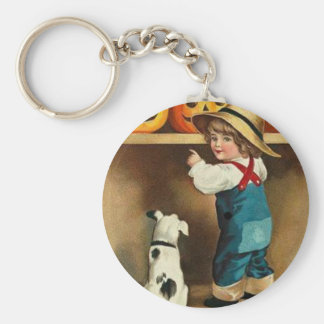 A Happy Halloween Basic Round Button Key Ring
