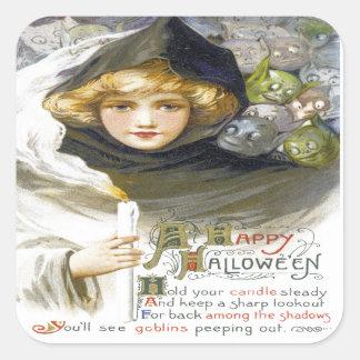 A Happy Hallowe'en Square Sticker